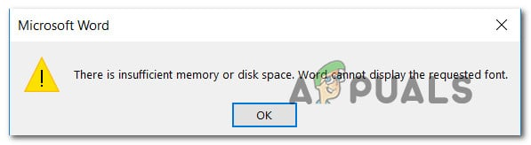 Fix: There is Insufficient Memory or Disk Space in Word - Appuals com