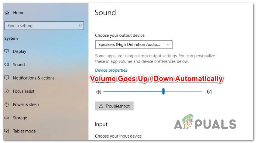 Fix: Volume Automatically Goes Down / Up Windows 10