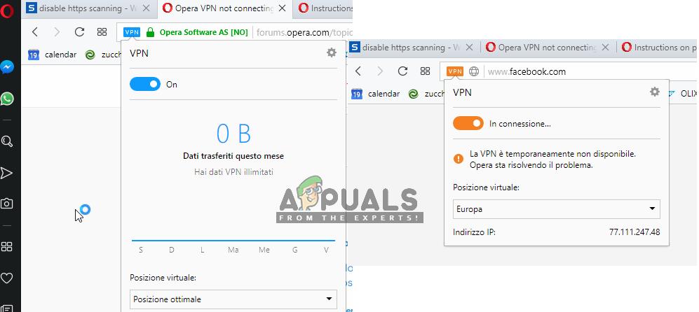 Fix: Opera VPN not Working - Appuals com