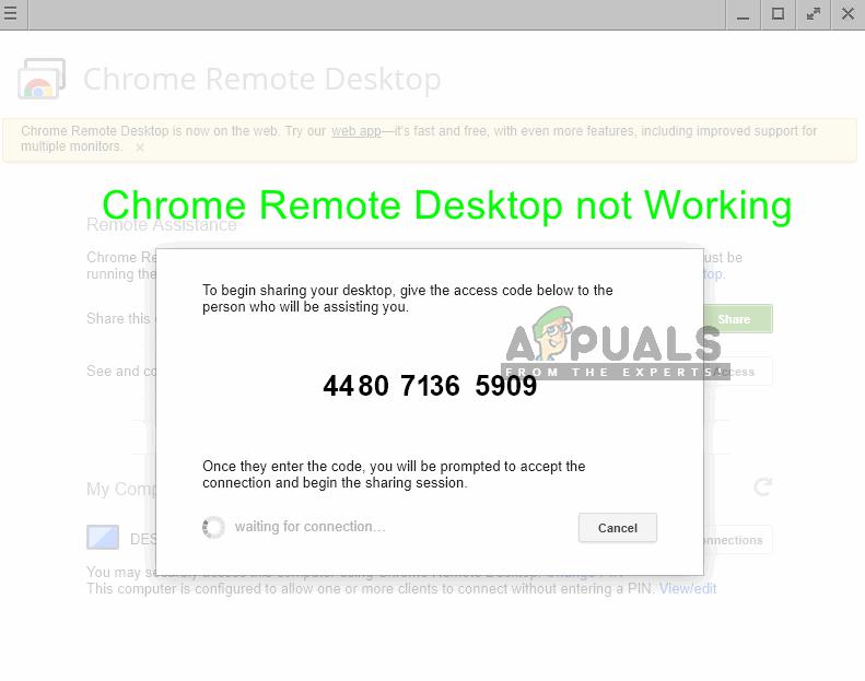 Fix: Chrome Remote Desktop not Working - Appuals com