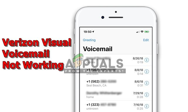 visual voicemail iphone verizon not working