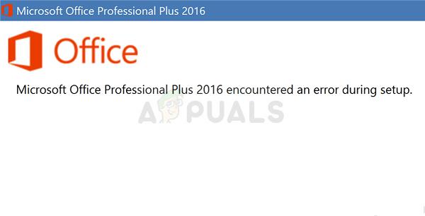 microsoft professional plus 2013 encountered an error during setup