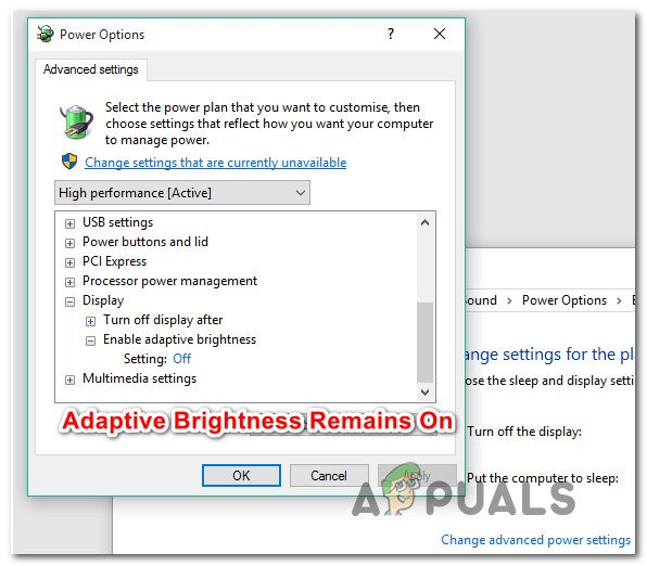 Fix: Windows 10 Adaptive Brightness won't Turn Off - Appuals com