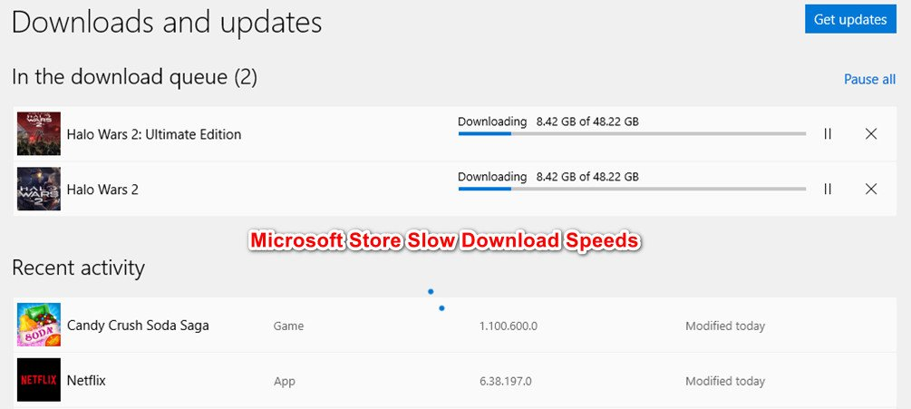 Microsoft Store Slow