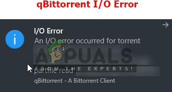 Fix: qBittorrent I/O Error - Appuals.com