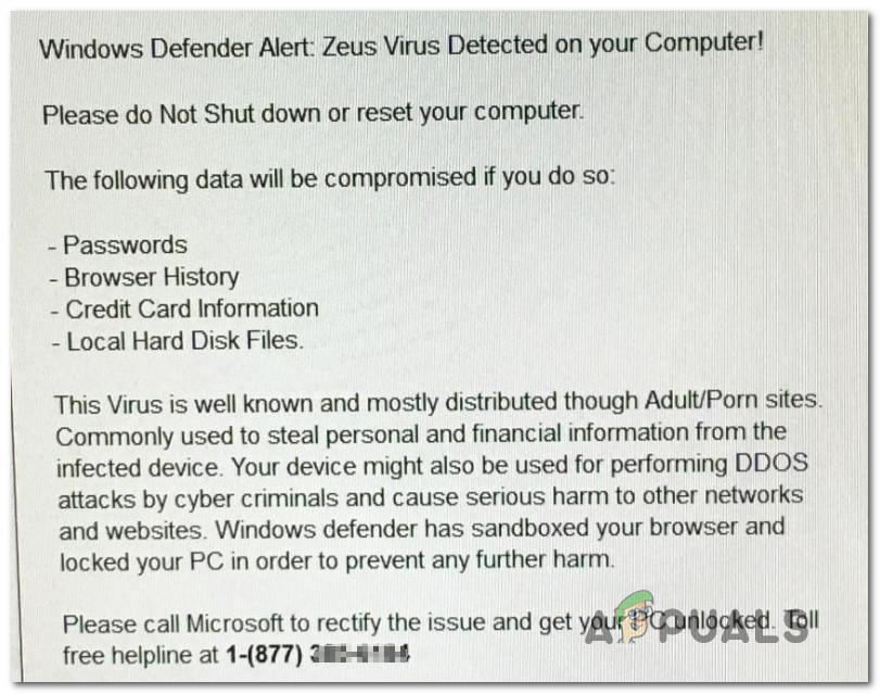 zeus virus alert