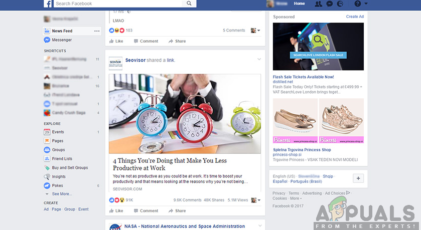 How to Fix Facebook News Feed not Working - Appuals com