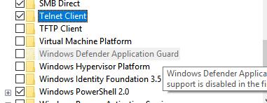 How to Enable Telnet in Windows 10 - Appuals com