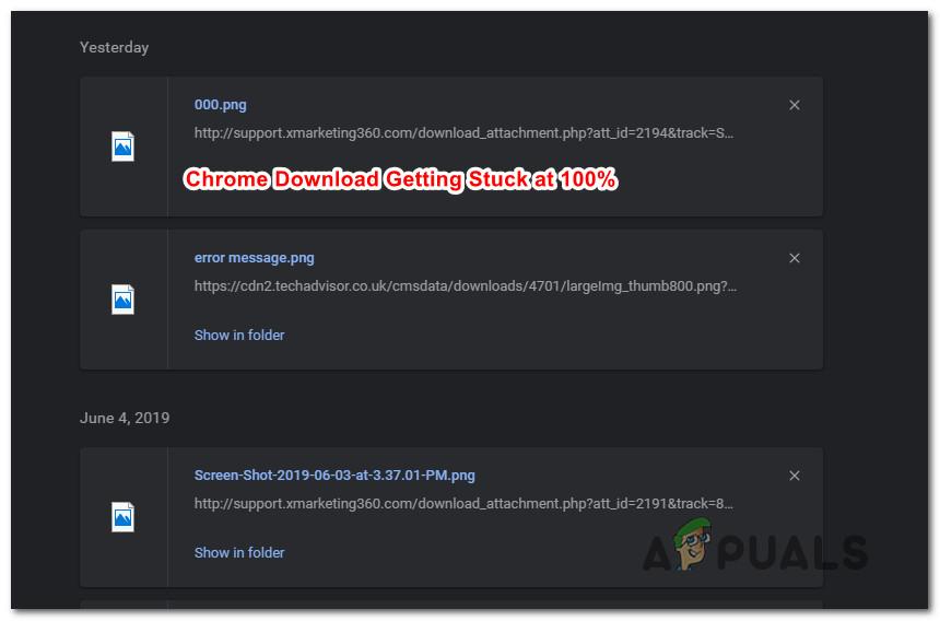 How to Fix Google Chrome Downloads Getting Stuck at 100% - Appuals com