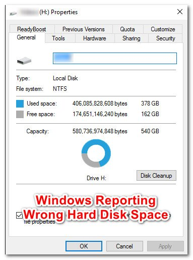 How to Fix Windows Reporting Wrong Hard Disk Free Space