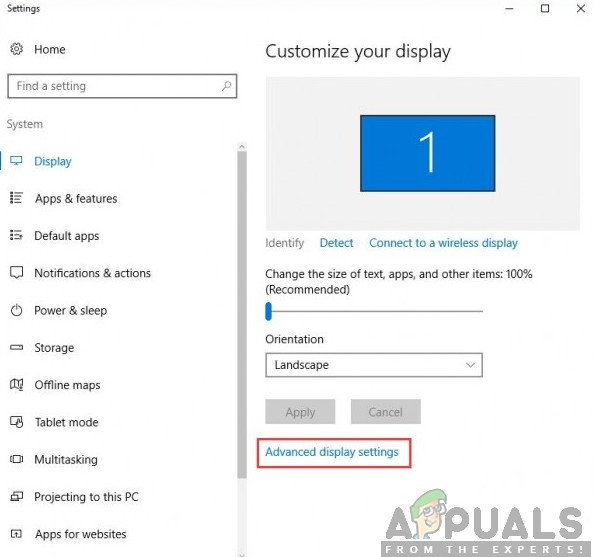 How to Fix Advanced Display Settings Missing in Windows 10? - Appuals.com