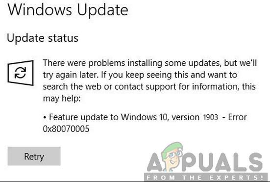 How to Fix Error 0x80070005 in Windows 10 Feature Update