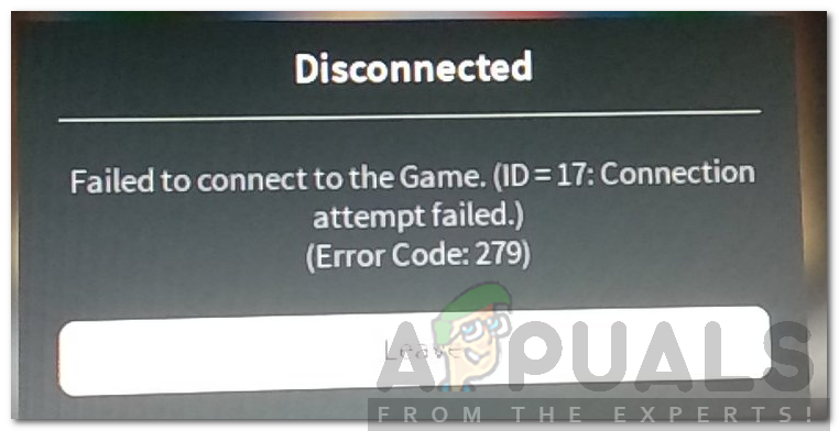 How To Fix Roblox Error Code 279 Appualscom - roblox login sign in and fix game problems