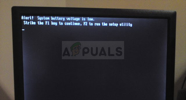 System Battery Voltage Is Low Dell Pc