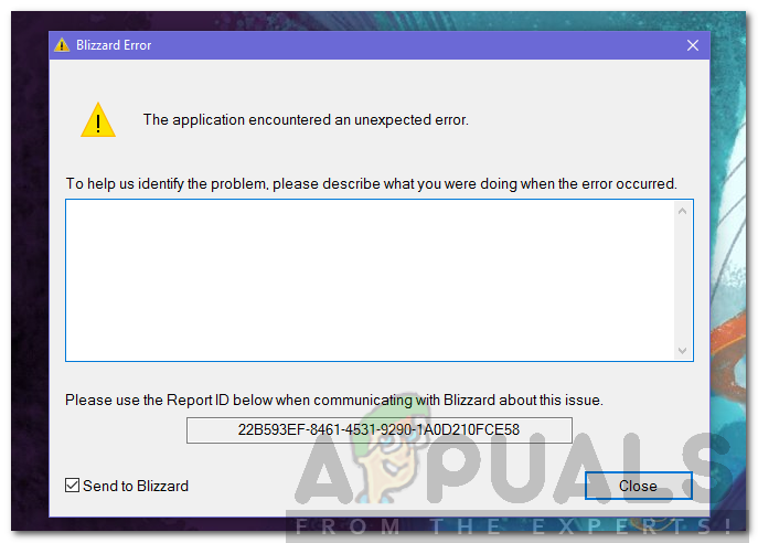 How to Fix the Blizzard Error 'The Application Encountered