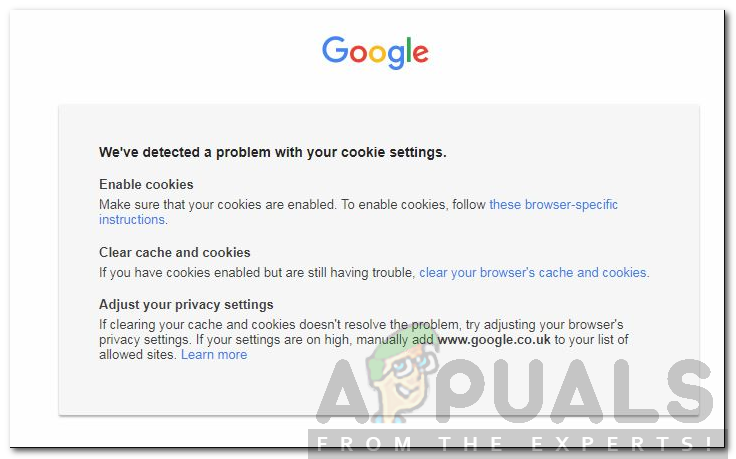 How to Fix 'We've Detected a Problem with your Cookie