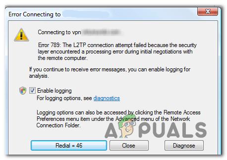 VPN Remote Access Error 789 error - Setup Vpn On Windows 7 Professional