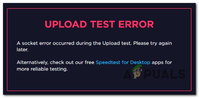 How to Fix Socket Error Occurred on SpeedTest - Appuals.com