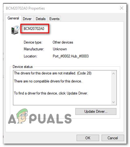 How To Fix Bcm20702a0 Driver Error On Windows 7 8 10 Appuals Com